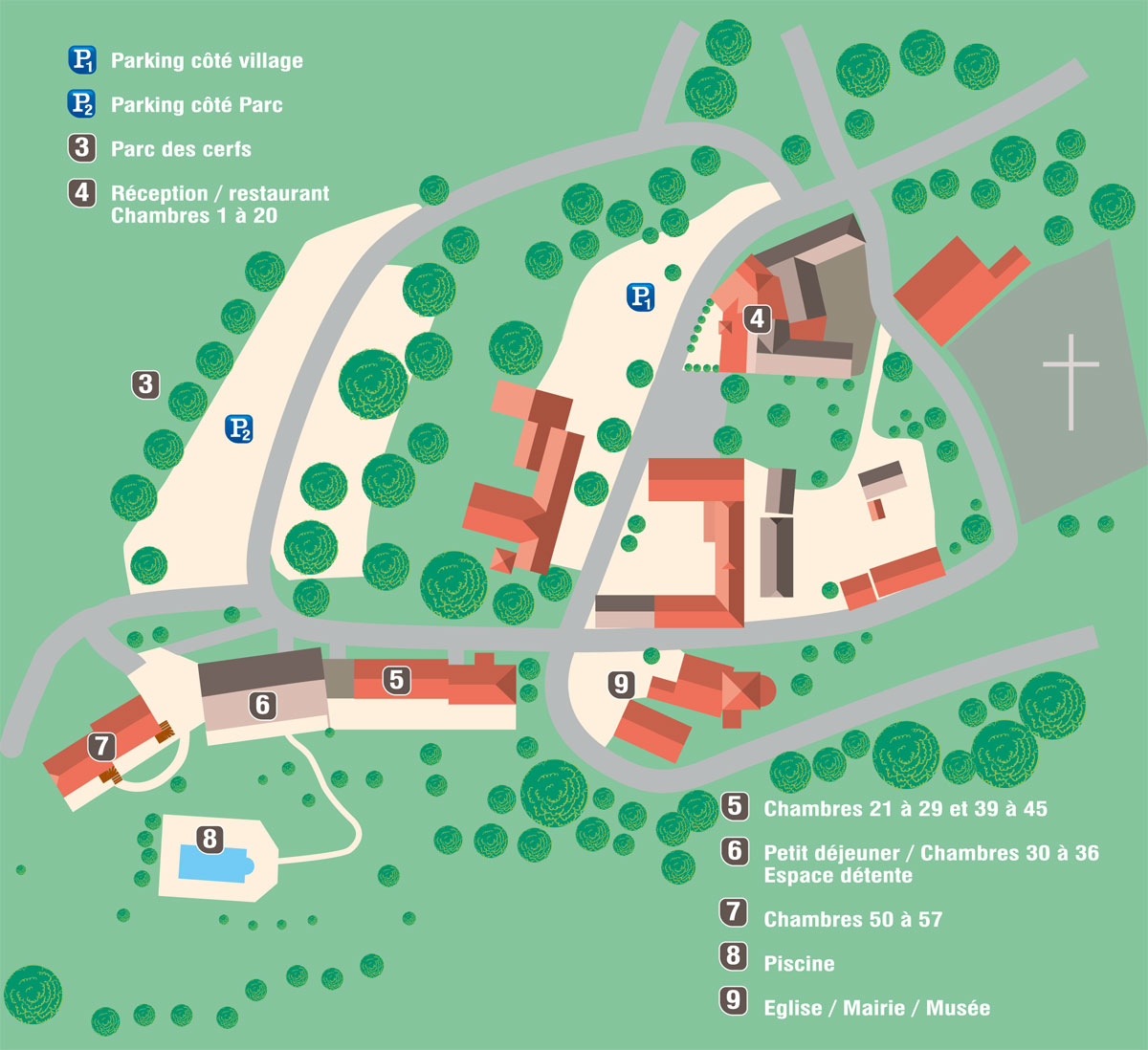 Map Of The Hotel Hotel Restaurant Laborderie